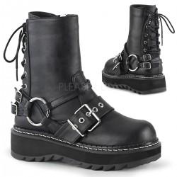 Lilith Black Platform Lace Up Back Ankle Boots ShoeOodles Shoes for Women, Men and Children  Oodles of Shoes for Men, Women & Children