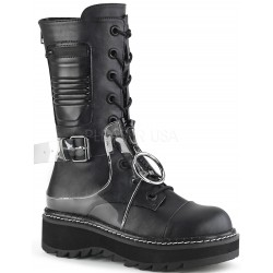 Lilith Mid-Calf Womens Black Harness Boot ShoeOodles Shoes for Women, Men and Children  Oodles of Shoes for Men, Women & Children