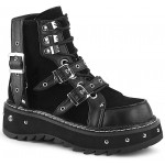 Lilith Black Platform Ankle Boots at ShoeOodles Shoes for Women, Men and Children,  Oodles of Shoes for Men, Women & Children