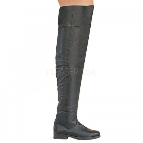 Maverick Unisex Flat Thigh High Pirate Boot at ShoeOodles,  Oodles of Shoes for Men, Women & Children