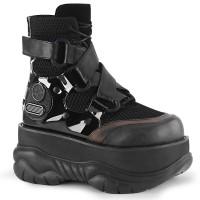 Neptune Black Cyberpunk Ankle Boot