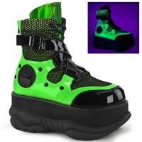 Neptune Neon Green Cyberpunk Ankle Boot