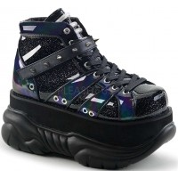 Neptune Black Holographic Mens Shoes