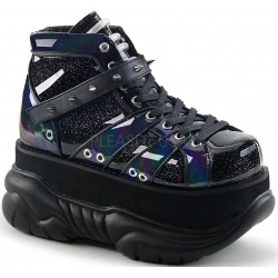 Neptune Black Holographic Mens Shoes ShoeOodles Shoes for Women, Men and Children  Oodles of Shoes for Men, Women & Children