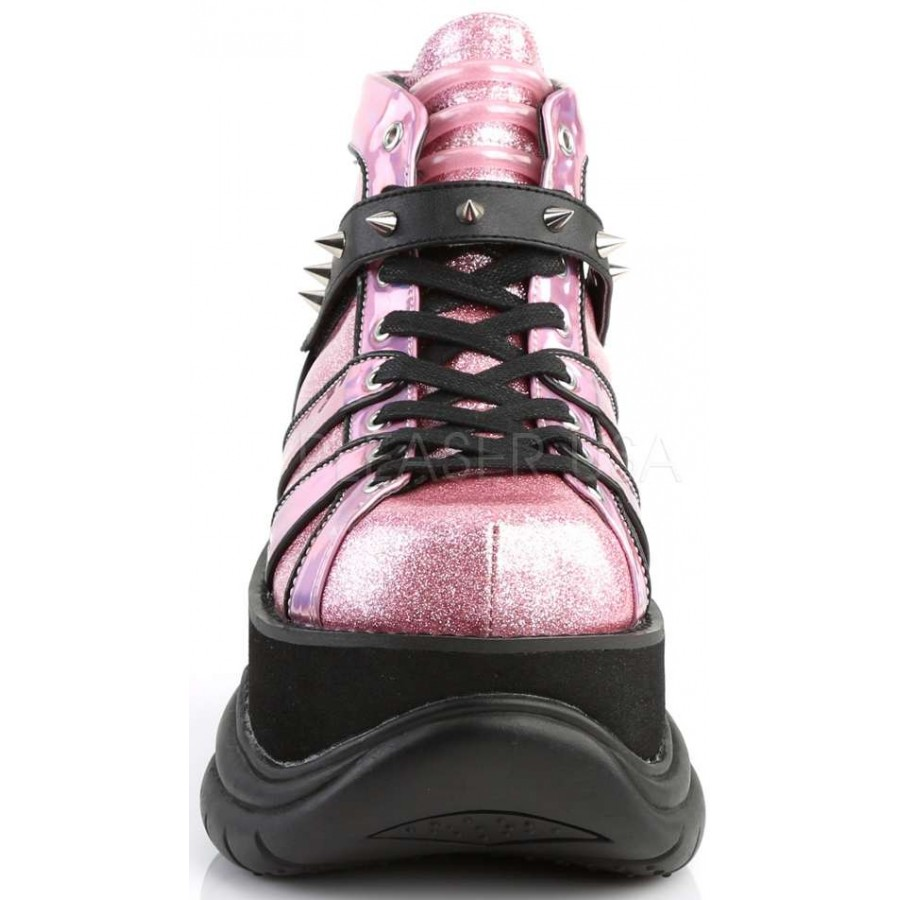 312348ea4ae1 ... Neptune Pink Holographic Mens Shoes at ShoeOodles Shoes for Women