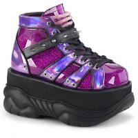 Neptune Purple Holographic Mens Shoes