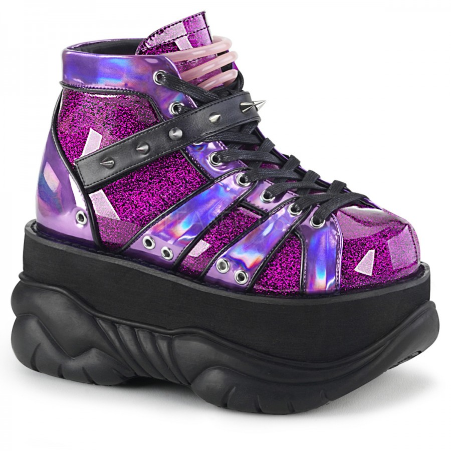 6058d2981574 Neptune Purple Holographic Mens Shoes at ShoeOodles Shoes for Women