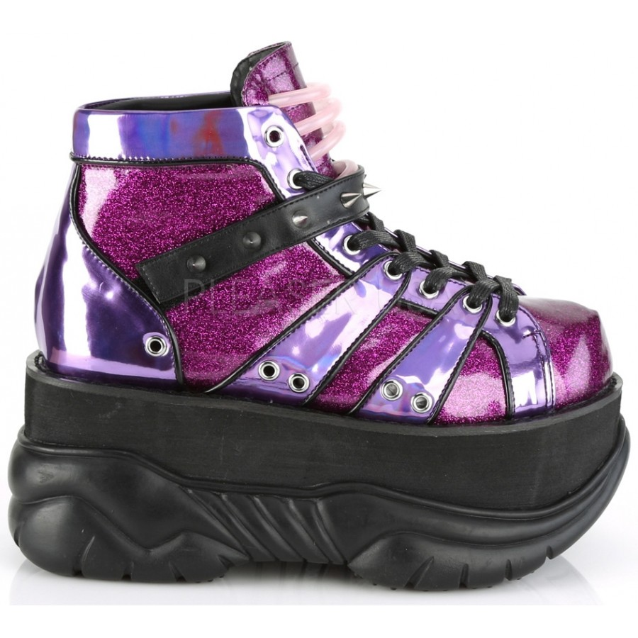 cbafc860a6fb ... Neptune Purple Holographic Mens Shoes at ShoeOodles Shoes for Women