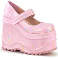 Wave Pink Hologram Platform Mary Jane