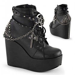Pentagram Charm The Craft Gothic Ankle Boot ShoeOodles Shoes for Women, Men and Children  Oodles of Shoes for Men, Women & Children