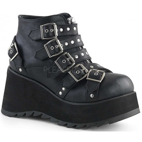 Scene Buckled Black Ankle Boots at ShoeOodles Shoes for Women, Men and Children,  Oodles of Shoes for Men, Women & Children