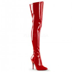 Seduce Red High Heel Thigh High Boots ShoeOodles Shoes for Women, Men and Children  Oodles of Shoes for Men, Women & Children