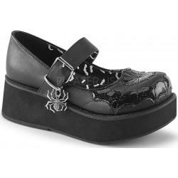 Spiderweb Sprite Black Platform Mary Jane ShoeOodles Shoes for Women, Men and Children  Oodles of Shoes for Men, Women & Children