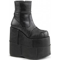 Stack Mens Platform Patched Ankle Boot