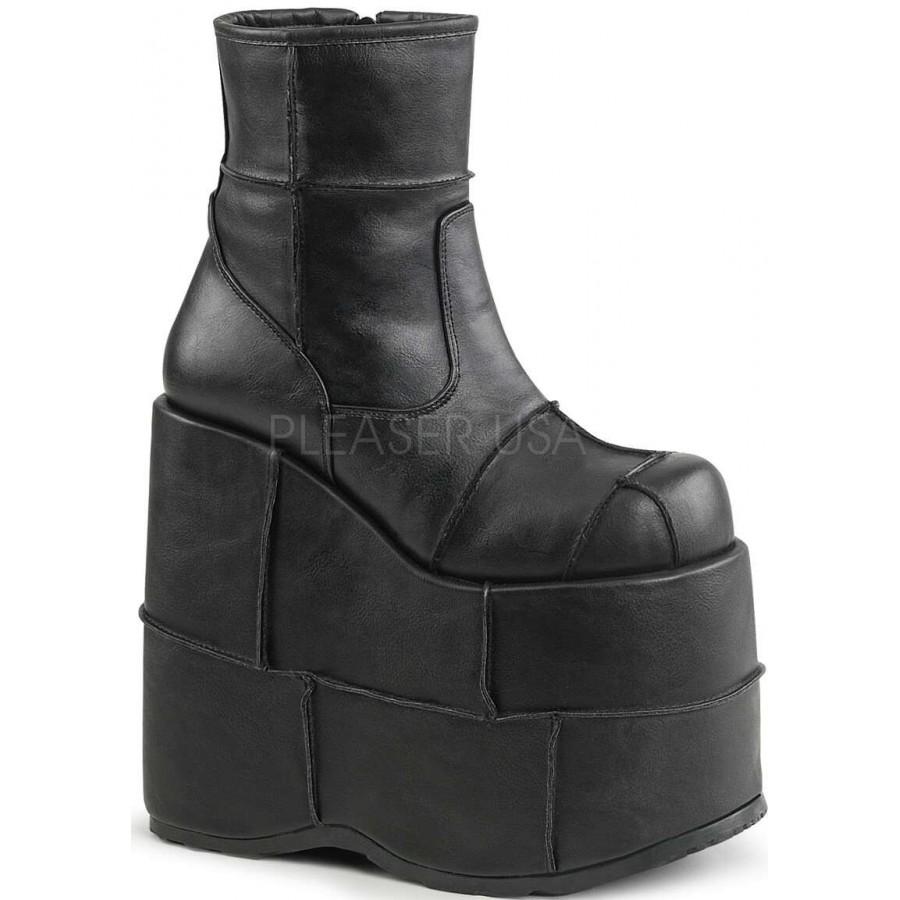 c50d8d50c25 Stack Mens Platform Patched Ankle Boot