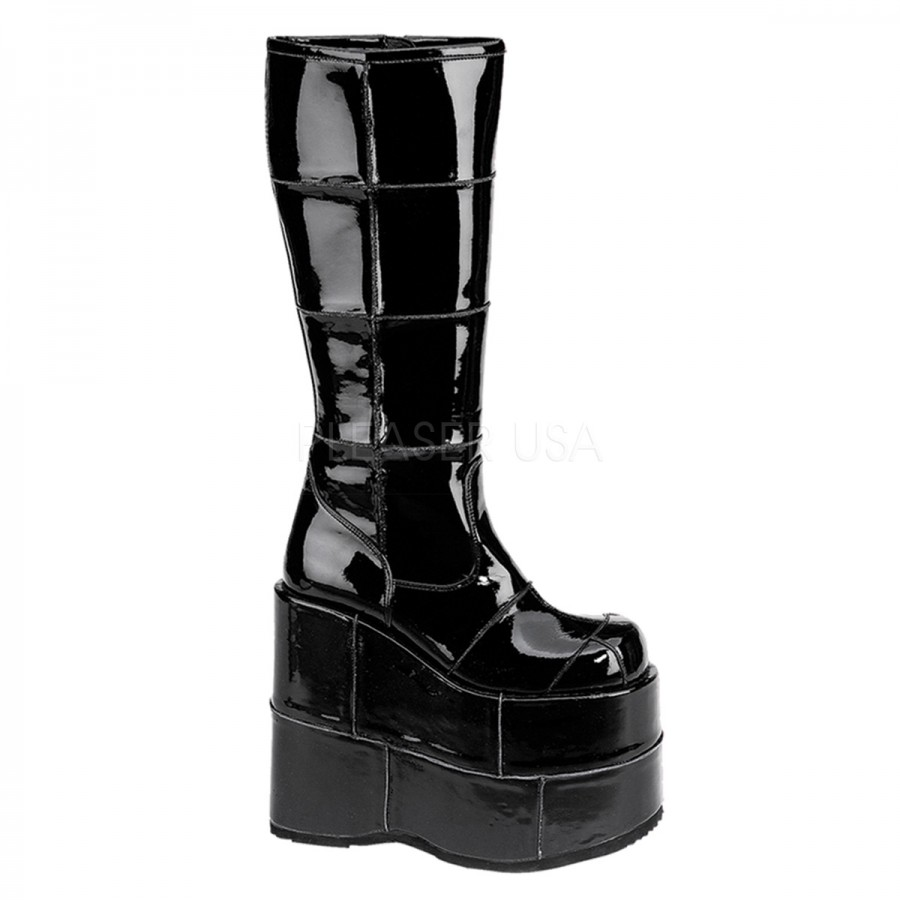 Women DEMONIA Alternative Gothic Boots are cutting-edge, beyond-the-ordinary line of footwear was designed outside of the mainstream box, catering to the alternative, defiant, and un-conforming individual who seeks the ultimate form of self-expression. Its meaning, female demon, does not exclude the male fans of DEMONIA's underground culture; rather, it's the connotation of the demonic diva.