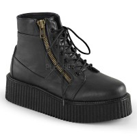 Platform Lace Up Front Creeper Bootie