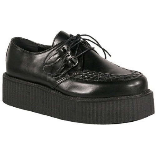 Black Faux Leather Mens Basic Creeper Loafer at ShoeOodles Shoes for Women, Men and Children,  Oodles of Shoes for Men, Women & Children