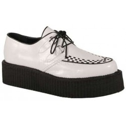 White Faux Leather Mens Basic Creeper Loafer ShoeOodles Shoes for Women, Men and Children  Oodles of Shoes for Men, Women & Children