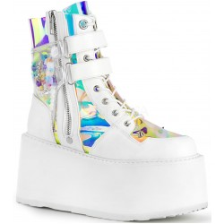 Damned White Charmed Ankle Boots ShoeOodles Shoes for Women, Men and Children  Oodles of Shoes for Men, Women & Children