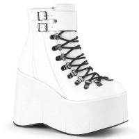 Kera White Platform Ankle Boots
