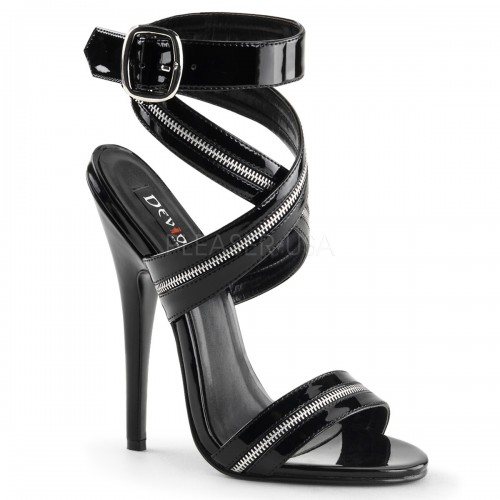 Zippered Domina High Heel Sandal at ShoeOodles Shoes for Women, Men and Children,  Oodles of Shoes for Men, Women & Children