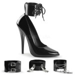 Ankle Cuff Domina 6 Inch High Heel Pump at ShoeOodles Shoes for Women, Men and Children,  Oodles of Shoes for Men, Women & Children