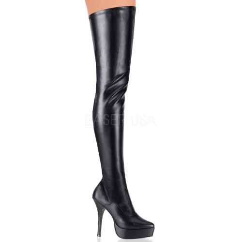 Black Indulge Faux Leather Stiletto Heel Boot at ShoeOodles Shoes for Women, Men and Children,  Oodles of Shoes for Men, Women & Children