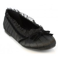 Black Satin Doll Kids Princess Shoe