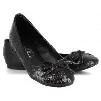 Black Glitter Mila Ballet Flats