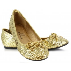 Gold Glitter Mila Ballet Flats ShoeOodles Shoes for Women, Men and Children  Oodles of Shoes for Men, Women & Children