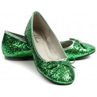 Green Glitter Mila Ballet Flats