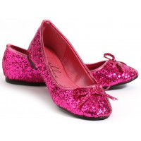 Fuchsia Glitter Mila Ballet Flats