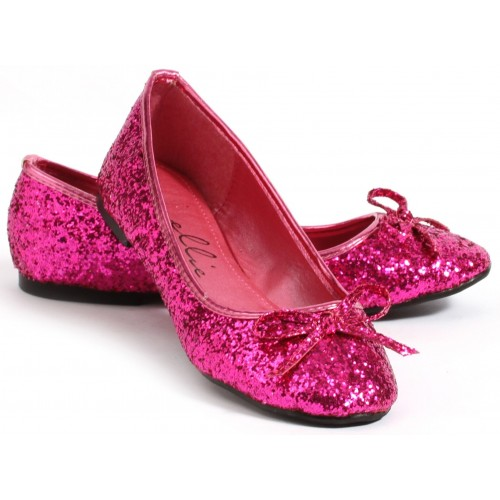 Fuchsia Glitter Mila Ballet Flats at ShoeOodles Shoes for Women, Men and Children,  Oodles of Shoes for Men, Women & Children