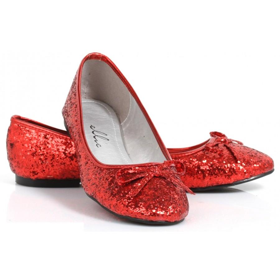 Red Glitter Mila Ballet Flats