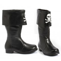 Childrens Pirate Boot with Embroidered Skull