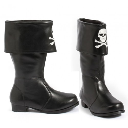 Childrens Pirate Boot with Embroidered Skull at ShoeOodles Shoes for Women, Men and Children,  Oodles of Shoes for Men, Women & Children