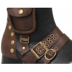 Amos Multi Pocket Steampunk Mens Knee High Boots at ShoeOodles Shoes for Women, Men and Children,  Oodles of Shoes for Men, Women & Children