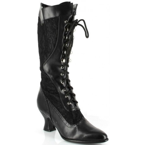 Rebecca Victorian Black Lace Boot at ShoeOodles Shoes for Women, Men and Children,  Oodles of Shoes for Men, Women & Children