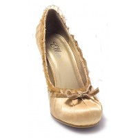 Satin Doll Gold High Heel Pump