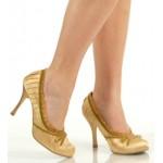 Satin Doll Gold High Heel Pump
