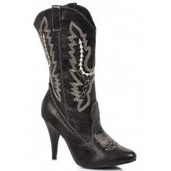Black Scrolled Cowgirl Boots ShoeOodles Shoes for Women, Men and Children  Oodles of Shoes for Men, Women & Children