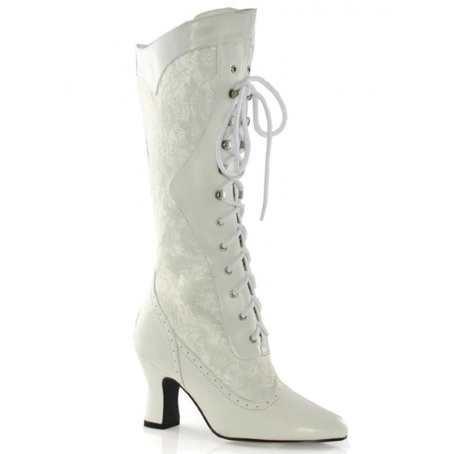 Rebecca Victorian White Lace Boot at ShoeOodles Shoes for Women c2f04180b