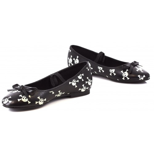 Skull Glow in the Dark Childrens Ballet Flat at ShoeOodles Shoes for Women, Men and Children,  Oodles of Shoes for Men, Women & Children