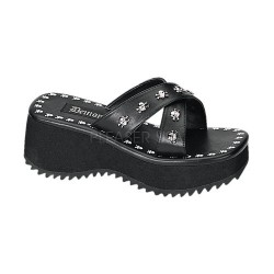Flip Skull Studded Platform Gothic Sandal ShoeOodles Shoes for Women, Men and Children  Oodles of Shoes for Men, Women & Children