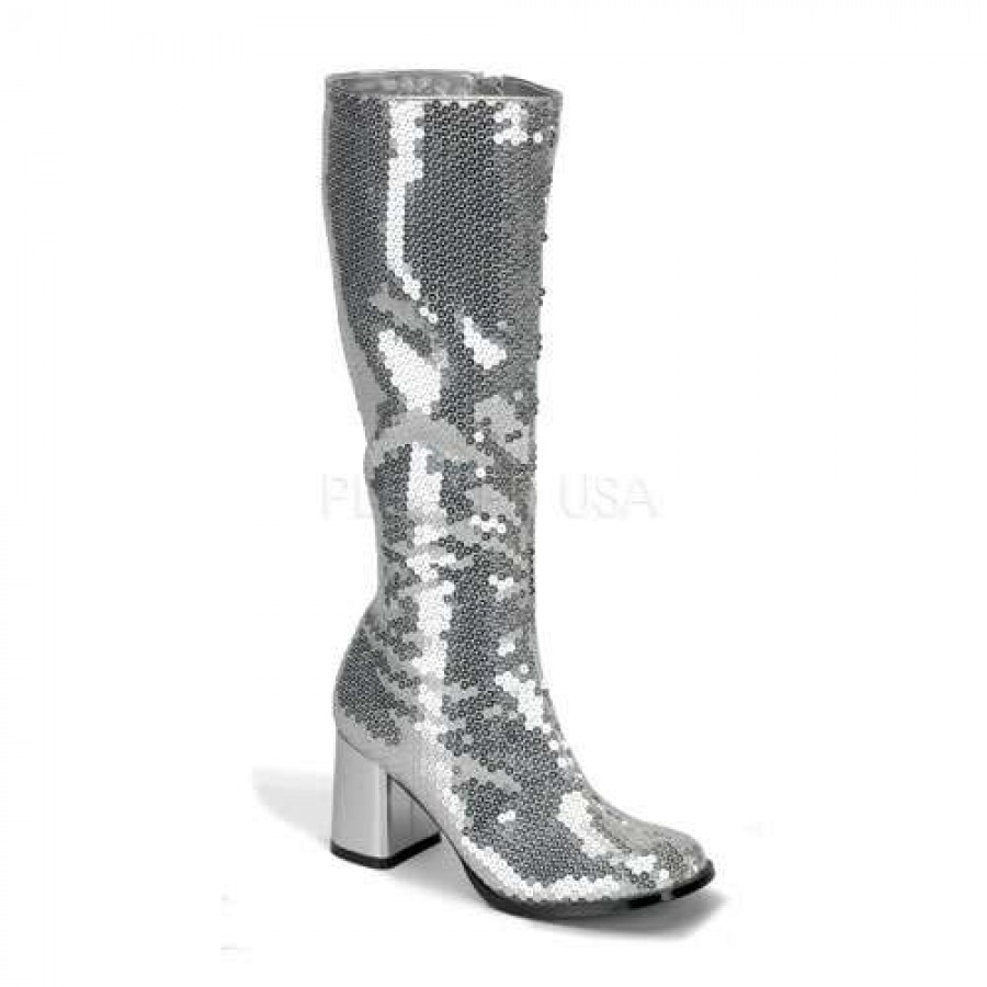 Mens Silver Sequin Shoes