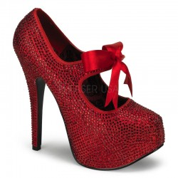 Ruby Red Rhinestone Teeze Platform Pump ShoeOodles Shoes for Women, Men and Children  Oodles of Shoes for Men, Women & Children