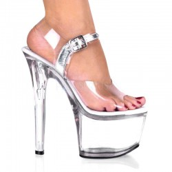 Treasure Chest Clear Extreme Platform Sandal