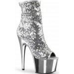 Silver Sequin Adore Platform Ankle Boots at ShoeOodles,  Oodles of Shoes for Men, Women & Children