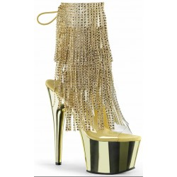 Gold Rhinestone Fringe Platform Ankle Boot ShoeOodles Shoes for Women, Men and Children  Oodles of Shoes for Men, Women & Children